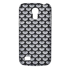 Scales3 Black Marble & Silver Glitter Galaxy S4 Mini