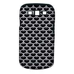 Scales3 Black Marble & Silver Glitter (r) Samsung Galaxy S Iii Classic Hardshell Case (pc+silicone)