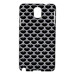 Scales3 Black Marble & Silver Glitter (r) Samsung Galaxy Note 3 N9005 Hardshell Case