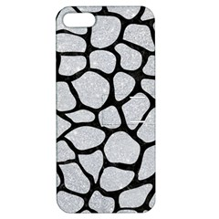 Skin1 Black Marble & Silver Glitter (r) Apple Iphone 5 Hardshell Case With Stand