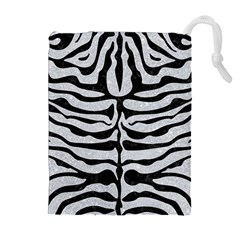 Skin2 Black Marble & Silver Glitter Drawstring Pouches (extra Large)