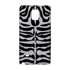 Skin2 Black Marble & Silver Glitter (r) Samsung Galaxy Note 4 Hardshell Case