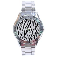 Skin3 Black Marble & Silver Glitter Stainless Steel Analogue Watch