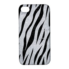 Skin3 Black Marble & Silver Glitter Apple Iphone 4/4s Hardshell Case With Stand