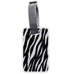 Skin3 Black Marble & Silver Glitter (r) Luggage Tags (two Sides)