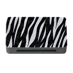 Skin3 Black Marble & Silver Glitter (r) Memory Card Reader With Cf