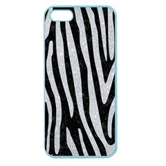 Skin4 Black Marble & Silver Glitter Apple Seamless Iphone 5 Case (color)