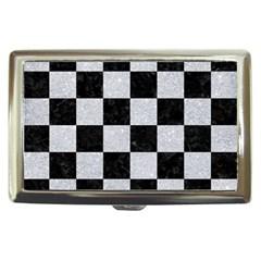 Square1 Black Marble & Silver Glitter Cigarette Money Cases
