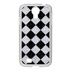 Square2 Black Marble & Silver Glitter Samsung Galaxy S4 I9500/ I9505 Case (white)
