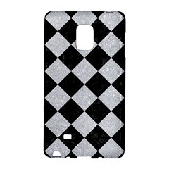 Square2 Black Marble & Silver Glitter Galaxy Note Edge