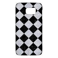 Square2 Black Marble & Silver Glitter Galaxy S6