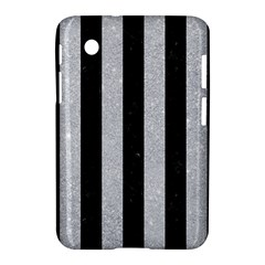 Stripes1 Black Marble & Silver Glitter Samsung Galaxy Tab 2 (7 ) P3100 Hardshell Case