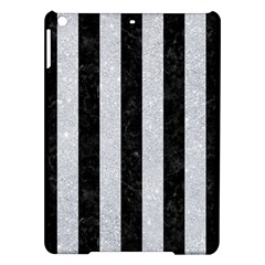 Stripes1 Black Marble & Silver Glitter Ipad Air Hardshell Cases