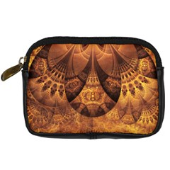 Beautiful Gold And Brown Honeycomb Fractal Beehive Digital Camera Cases
