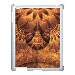 Beautiful Gold And Brown Honeycomb Fractal Beehive Apple Ipad 3/4 Case (white)