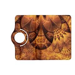 Beautiful Gold And Brown Honeycomb Fractal Beehive Kindle Fire Hd (2013) Flip 360 Case