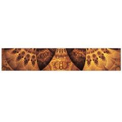 Beautiful Gold And Brown Honeycomb Fractal Beehive Large Velour Scarf
