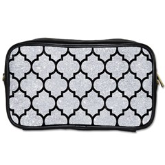 Tile1 Black Marble & Silver Glitter Toiletries Bags