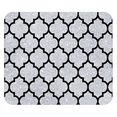 Tile1 Black Marble & Silver Glitter Double Sided Flano Blanket (small)