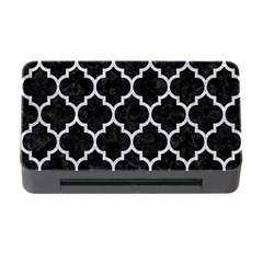 Tile1 Black Marble & Silver Glitter (r) Memory Card Reader With Cf