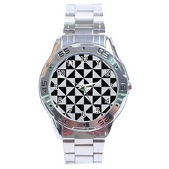 Triangle1 Black Marble & Silver Glitter Stainless Steel Analogue Watch
