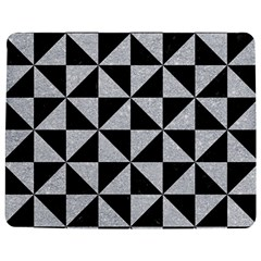 Triangle1 Black Marble & Silver Glitter Jigsaw Puzzle Photo Stand (rectangular)