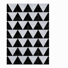Triangle2 Black Marble & Silver Glitter Small Garden Flag (two Sides)