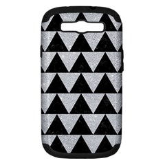 Triangle2 Black Marble & Silver Glitter Samsung Galaxy S Iii Hardshell Case (pc+silicone)