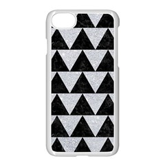 Triangle2 Black Marble & Silver Glitter Apple Iphone 8 Seamless Case (white)