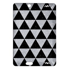 Triangle3 Black Marble & Silver Glitter Amazon Kindle Fire Hd (2013) Hardshell Case