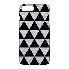 Triangle3 Black Marble & Silver Glitter Apple Iphone 7 Plus Hardshell Case