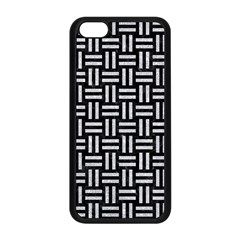 Woven1 Black Marble & Silver Glitter (r) Apple Iphone 5c Seamless Case (black)