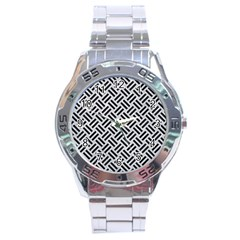 Woven2 Black Marble & Silver Glitter Stainless Steel Analogue Watch