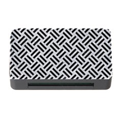 Woven2 Black Marble & Silver Glitter Memory Card Reader With Cf