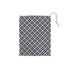 Woven2 Black Marble & Silver Glitter Drawstring Pouches (small)