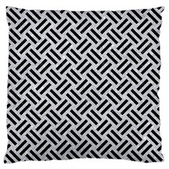 Woven2 Black Marble & Silver Glitter Standard Flano Cushion Case (two Sides)