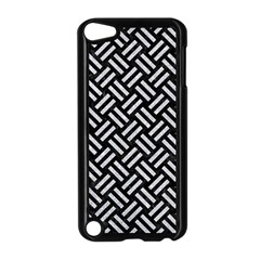Woven2 Black Marble & Silver Glitter (r) Apple Ipod Touch 5 Case (black)