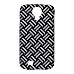 Woven2 Black Marble & Silver Glitter (r) Samsung Galaxy S4 Classic Hardshell Case (pc+silicone)