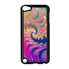 Rainbow Octopus Tentacles In A Fractal Spiral Apple Ipod Touch 5 Case (black)
