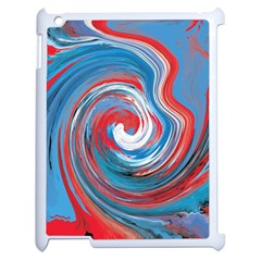 Red And Blue Rounds Apple Ipad 2 Case (white)