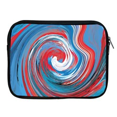 Red And Blue Rounds Apple Ipad 2/3/4 Zipper Cases