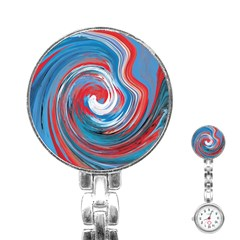 Red And Blue Rounds Stainless Steel Nurses Watch