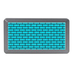 Brick1 Black Marble & Turquoise Colored Pencil Memory Card Reader (mini)