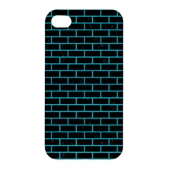 Brick1 Black Marble & Turquoise Colored Pencil (r) Apple Iphone 4/4s Premium Hardshell Case