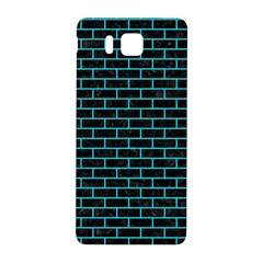 Brick1 Black Marble & Turquoise Colored Pencil (r) Samsung Galaxy Alpha Hardshell Back Case