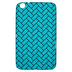 Brick2 Black Marble & Turquoise Colored Pencil Samsung Galaxy Tab 3 (8 ) T3100 Hardshell Case