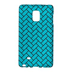 Brick2 Black Marble & Turquoise Colored Pencil Galaxy Note Edge