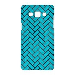 Brick2 Black Marble & Turquoise Colored Pencil Samsung Galaxy A5 Hardshell Case