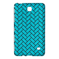 Brick2 Black Marble & Turquoise Colored Pencil Samsung Galaxy Tab 4 (7 ) Hardshell Case