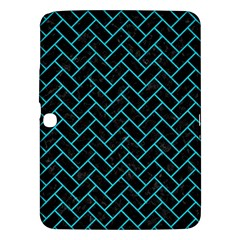 Brick2 Black Marble & Turquoise Colored Pencil (r) Samsung Galaxy Tab 3 (10 1 ) P5200 Hardshell Case
